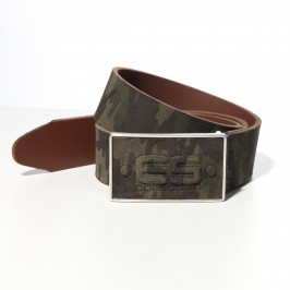Ceinture cuir camo - kaki - ES COLLECTION AC075 C17