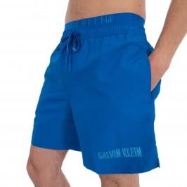 Double waistband bath shorts - blue - CALVIN KLEIN *KM0KM00300-446
