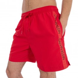 Bath shorts medium DrawString - red - CALVIN KLEIN KM0KM00294-445