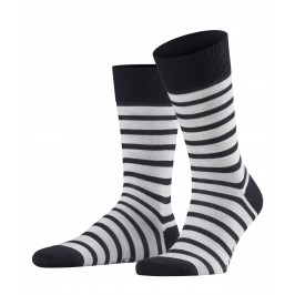 Chaussettes FALKE Even Stripe - navy - FALKE 13326-6376