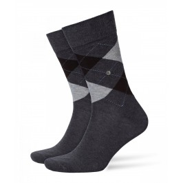 Chaussettes Burlington King - gris - BURLINGTON 21020-3081