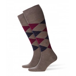 Chaussettes Mi-Bas Edinburgh - marron/marine/violet - BURLINGTON 27082-5817