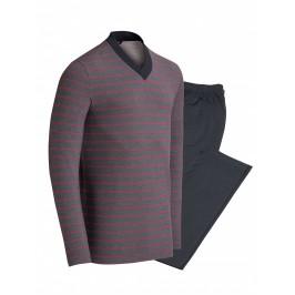 Pyjama Impetus haut rayé rose - IMPETUS 4547D98-G72