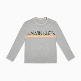 T-shirt  Calvin Klein à manche longue avec logo - gris - CALVIN KLEIN NM1772E-080
