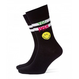 Chaussettes Smiley Sucker noir - BURLINGTON 21833-3000