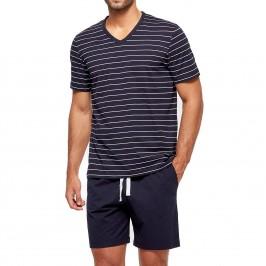 Pyjama court ORGANIC rayé - bleu - IMPETUS GO63024-039