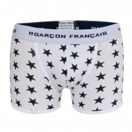 Boxer long blanc étoiles - blanc - GARÇON FRANÇAIS BOXER18-BLANC ETOILES