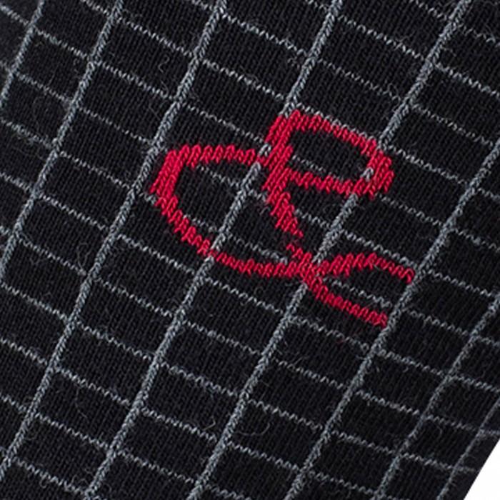 Mi-chaussettes Quadrillage & Coton Noir - LABONAL 34856-8000