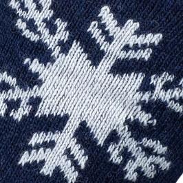 MI-CHAUSSETTES  Flocon Cachemire et Laine Bleu - LABONAL 38135-1000
