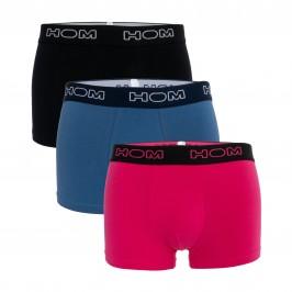 Pack de 3 boxeadores ESSENTIEL - azul negro y rosa - HOM *401179-T019