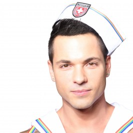 Pride Sailor Hat - ANDREW CHRISTIAN 8466-WHT