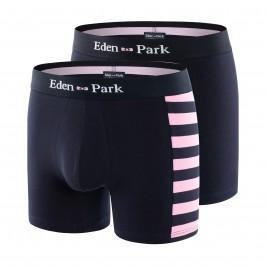 Lot de 2 boxers unis et rayé rose - EDEN PARK E658G19-E83