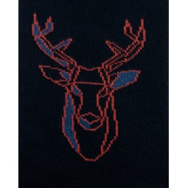 Chaussettes réversibles Cerf Noir Intérieur Vert pomme - DAGOBERT À L'ENVERS DAGG40-MARINE/JEAN
