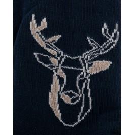 Chaussettes réversibles Cerf Noir Intérieur Vert pomme - DAGOBERT À L'ENVERS DAGG40-MARINE/BEIGE