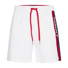 Short de bain Tommy SF Medium Drawstring - PVH Classic White - TOMMY HILFIGER UM0UM01699-YCD