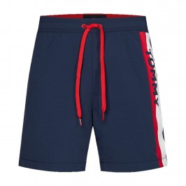 Short de bain Tommy SF Medium Drawstring - Pitch Blue - TOMMY HILFIGER UM0UM01699-CUN