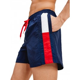 Short de bain Tommy SF Medium Drawstring - Pitch Blue - TOMMY HILFIGER UM0UM01697-CUN