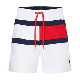 Flag Panel Swim Shorts - white - TOMMY HILFIGER UM0UM01070-YCD