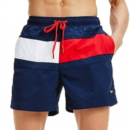 Flag Panel Swim Shorts - white - TOMMY HILFIGER -UM0UM01070-CUN
