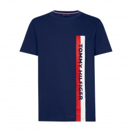 T-shirt Tommy Crew Neck Tee - Pitch Blue - TOMMY HILFIGER UM0UM01744-CUN