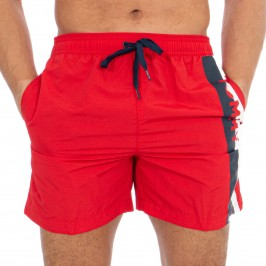 Short de bain Tommy SF Medium Drawstring - Red Glare - TOMMY HILFIGER -UM0UM01699-XL7