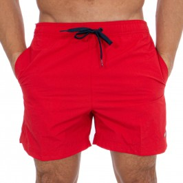 Bath shorts with contrast clamping cord - Red - TOMMY HILFIGER -UM0UM01080-XL7
