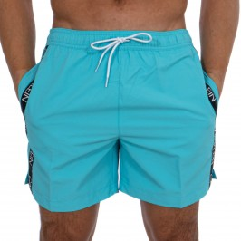 Short de bain Medium Drawstring - Black Iris - CALVIN KLEIN -KM0KM00434-DW9