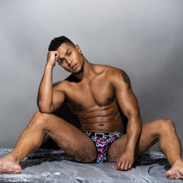 Disco Flamingo Brief w/ Almost Naked - ANDREW CHRISTIAN 91494-DFLPR