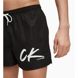 Drawstring - Black Swim Shorts - CALVIN KLEIN KM0KM00442-BEH