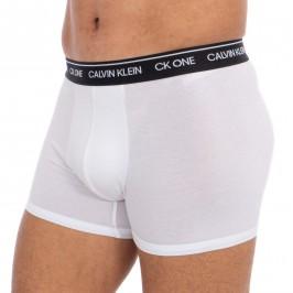 Lot de 2 boxers Calvin Klein - CK one blanc - CALVIN KLEIN -NB2385A-WBE
