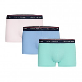 3-Pack Stretch Cotton Trunks - pink green and blue - TOMMY HILFIGER 1U87903842-0XP