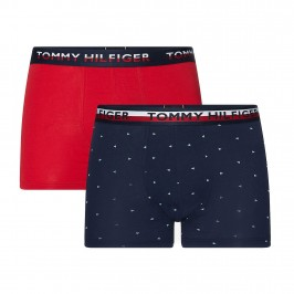 Lot of 2 printed boxers - red and navy - TOMMY HILFIGER UM0UM01233-0WF
