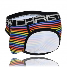 Disco Pride Stripe Brief w/ Almost Naked - ANDREW CHRISTIAN 91553-DSPRS