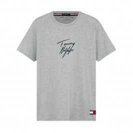 Signature Logo Organic Cotton T-Shirt - grey - TOMMY HILFIGER -UM0UM01787-P6S