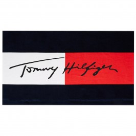 Tommy Hilfiger Signature Flag Cotton Towel - TOMMY HILFIGER UU0UU00033-CUN