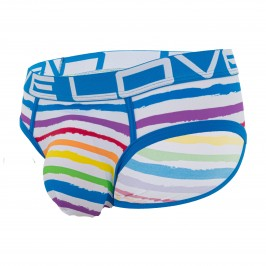 Love Rainbow Stripe Brief w/ Almost Naked - ANDREW CHRISTIAN 91582-LVSP