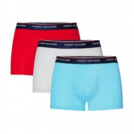 3-Pack Stretch Cotton Trunks - Blue Yellow and Red - TOMMY HILFIGER 1U87903842-0WD