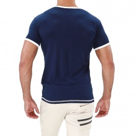 Hola T-shirt Navy blue - TOF PARIS TS0047BUM