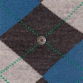 EDINBURGH socks - grey/blue - BURLINGTON 21182-3090