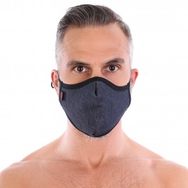 Washable seamless denim mask - TOF PARIS M0004J