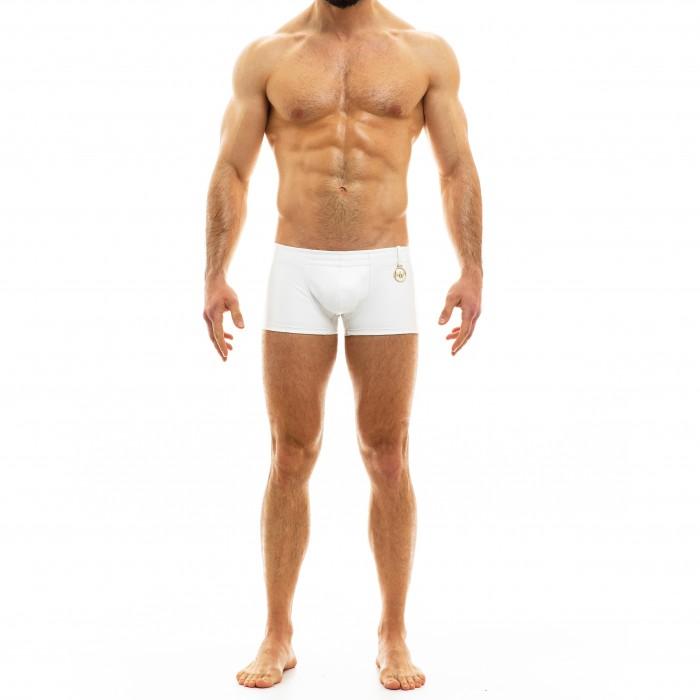 Boxer aspect cuir - noir - MODUS VIVENDI 20521-WHITE