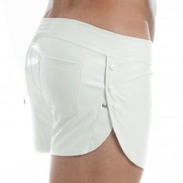 Short aspect cuir - noir - MODUS VIVENDI 20561-WHITE
