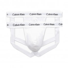 2 Pack Jock Straps Cotton Stretch - white - CALVIN KLEIN NB1354A-100