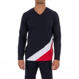 Pyjama Eden Park bleu blanc rouge - EDEN PARK E506G34-039