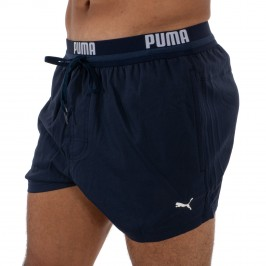 PUMA Logo Short Length Swimming Shorts - navy -  100000030-001