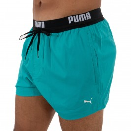 PUMA Swim Logo Kurze Badeshorts - aqua -  100000030-003