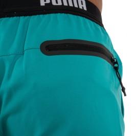 PUMA Logo Short Length Swimming Shorts - aqua -  100000030-003