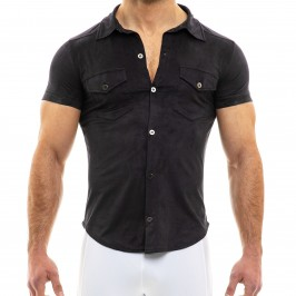 Suede - Brown Shirt - MODUS VIVENDI 13941 BLACK
