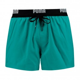 PUMA Logo Short Length Swimming Shorts - aqua -  100000030-003