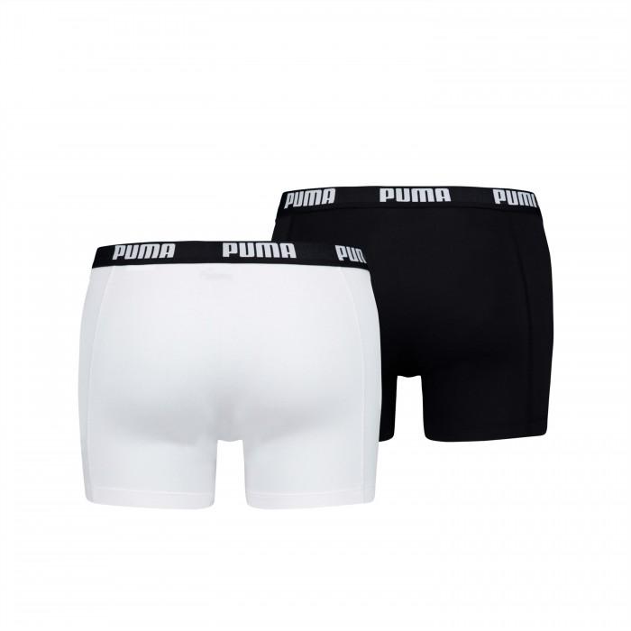 Basic Boxer Shorts 2 Pack - white and black - PUMA 521015001-301